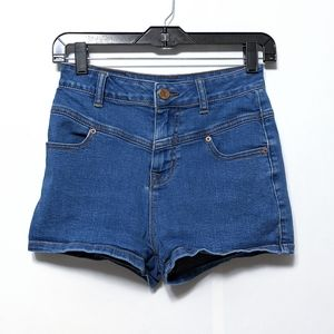 BDG Super High Rise Seam Jean Shorts 26
